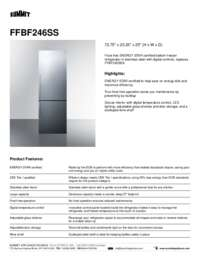Brochure FFBF246SS