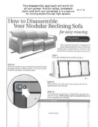 Reclining Furniture Disassembly Guide