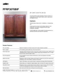 Brochure FFRF3070BIF