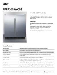 Brochure FFRF3075WCSS