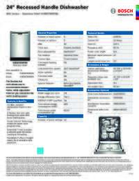 SHEM78W55N Specifications Sheet