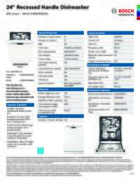 SHEM78W52N Specifications Sheet