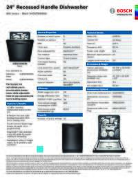 SHEM78W56N Specifications Sheet