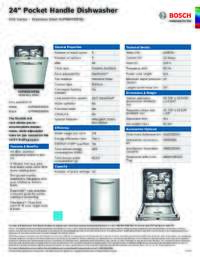 SHPM65W55N Specifications Sheet