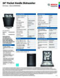 SHPM65W56N Specifications Sheet