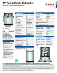 SHPM78W55N Specifications Sheet