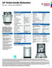 SHPM98W75N Specifications Sheet
