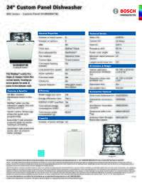 SHVM98W73N Specifications Sheet
