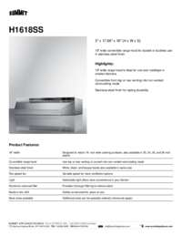 Brochure H1618SS