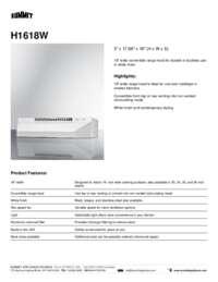 Brochure H1618W