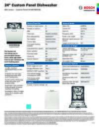 SHVM78W53N Specifications Sheet