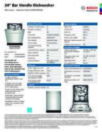 SHXM78W55N Specifications Sheet