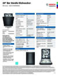 SHXM78W56N Specifications Sheet