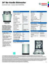 SHX87PW55N Specifications Sheet