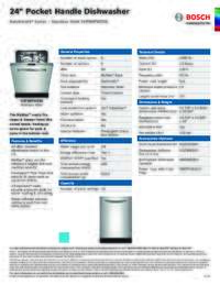 SHP88PW55N Specifications Sheet