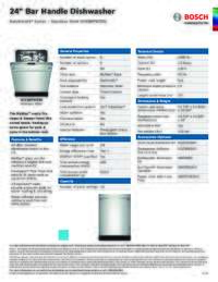 SHX88PW55N Specifications Sheet