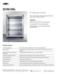 Brochure SCR610BL