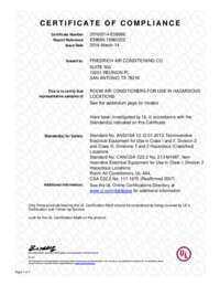 Hazardgard Certificate of Compliance