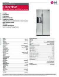 LSXC22436 Spec Sheet