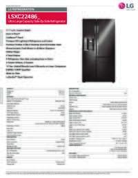 LSXC22486 Spec Sheet