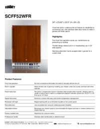 Brochure SCFF52WFR
