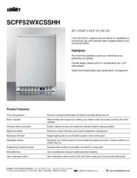 Brochure SCFF52WXCSSHH
