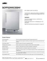 Brochure SCFF52WXCSSHV