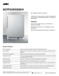 Brochure SCFF52WXSSHV
