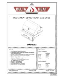 DHBQ26G Specifications Sheet