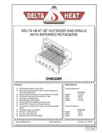 DHBQ38R Specifications Sheet