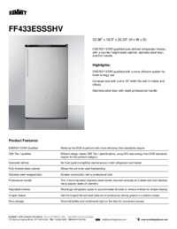 Brochure FF433ESSSHV