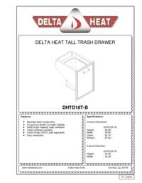 DHTD18T B Specifications Sheet