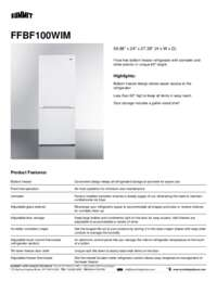Brochure FFBF100WIM