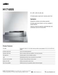 Brochure H1718SS