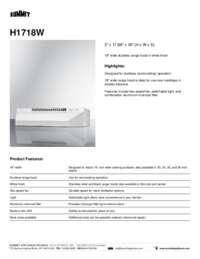 Brochure H1718W