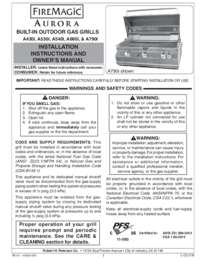 Installation Instructions and Owner's Manual
