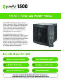 pureAir 1500 Specifications