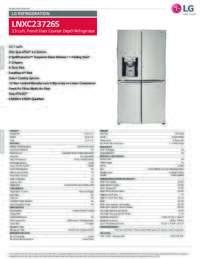 LNXC23726S Spec Sheet