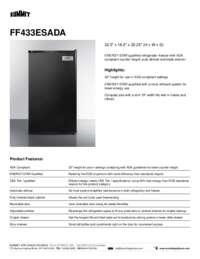 Brochure FF433ESADA