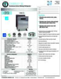 CRMR27 W Specifications Sheet