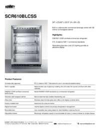 Brochure SCR610BLCSS