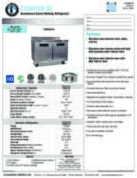 CRMR60 W Specification Sheet