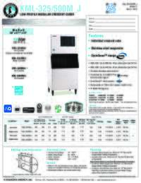 KML 325 500M J Specifications Sheet