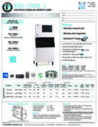 KML 700M J Specifications Sheet