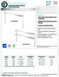 Overshelves Specifications Sheet