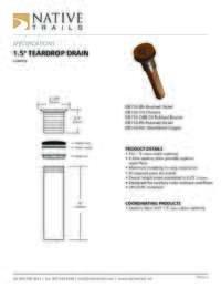 Teardrop Drain Specifications