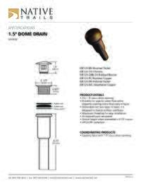 Dome Drain Specifications