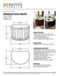 Bordeaux Wall Mount Specifications