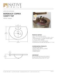 Copper Top Specifications