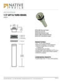 Lift Turn Drain Specifications